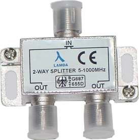 ClearView 2 Way F connector splitter 5-1000MHz-0