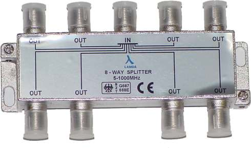 ClearView 8 Way F connector splitter 5-1000MHz