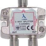 ClearView2 Way F connector splitter 5-2250MHz