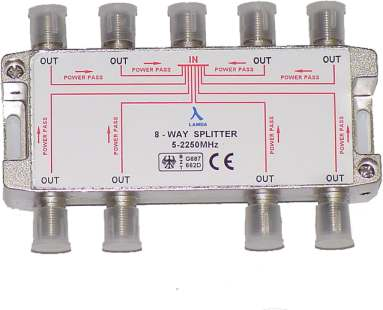 ClearView 8 Way F connector splitter 5-2250MHz-0