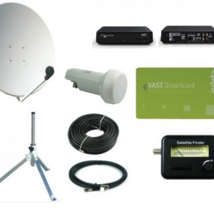 SatKing 80 cm portable VAST Dish Kit with UEC VAST receiver