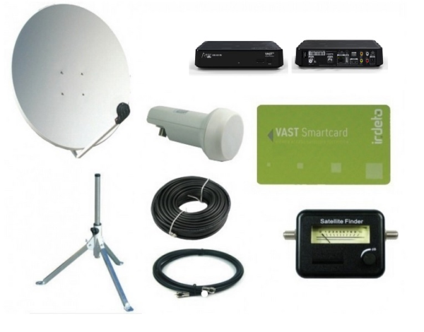 SatKing 80 cm portable VAST Dish Kit with UEC VAST receiver-0