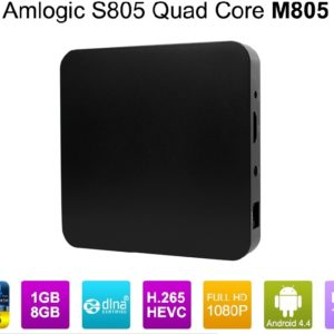 Android 4.4 Kitkat 1080p 1GB/8GB Amlogic S805 Quad Core TV Box M805 Preinstalled Kodi