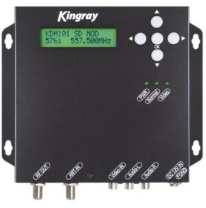 Kingray KDM101 SD MPEG2 Digital Modulator with CVBS in