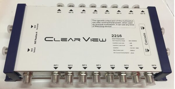 ClearView 2216 16 Port Cascade Satellite Multiswitch-0