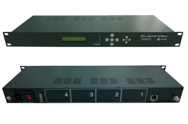 ClearView HD4112-ATSC Quad HD MPEG2 ATSC Modulator 4RF Carriers Out-0