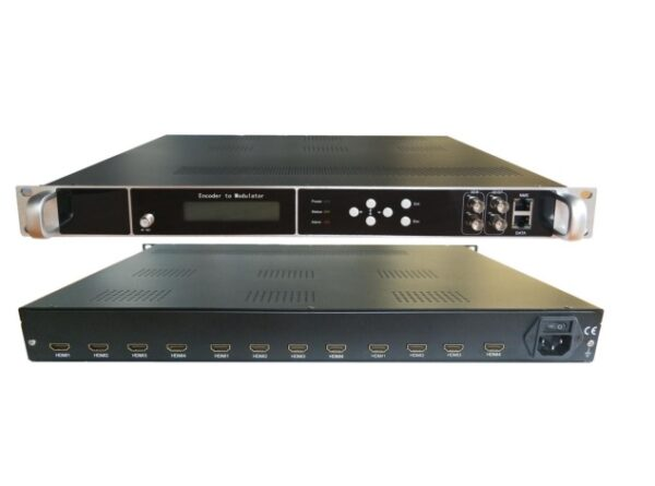 HD244-12 12 x HDMI Input, HD MPEG4 modulator with 4 x DVBT carriers out, and IP in and out.-0