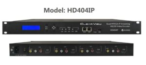 ClearView HD404IP MPEG4, 4 HDMI and 4 x CVBS to IP Streamer